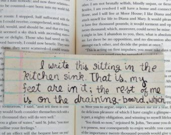 A bookmark that features one of the best opening sentences of a book ...