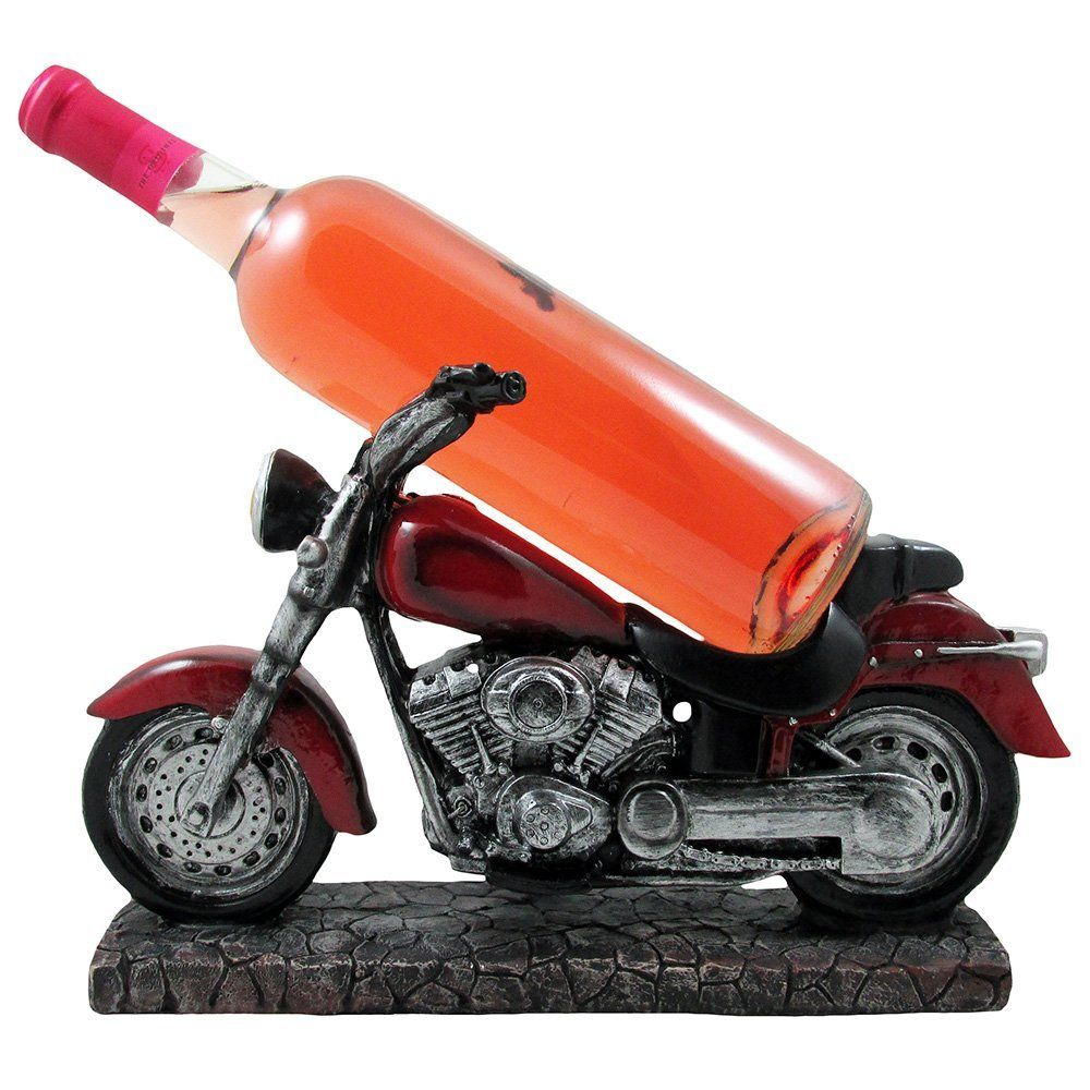Vintage Motorcycle Wine Bottle Holder Sculpture For Classic Chopper And Cycle Model Statues As Decorative Bar Or Wine Bottle Holders Bottle Holders Wine Bottle