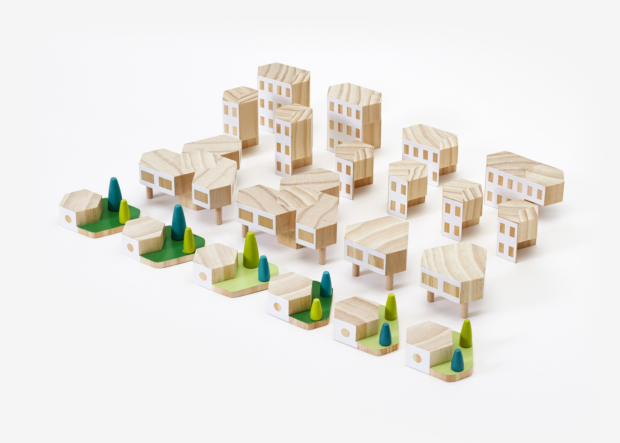 Blockitecture Garden City Mega Set Wood Toys Design Architecture