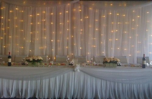 Tulle W Lights Thinking This For Reception Walls To Cover The Ugly Lol
