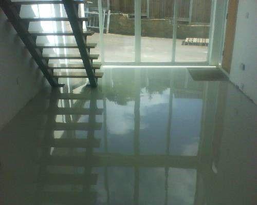 White Seamless Poured Resin Flooring Residential Southampton