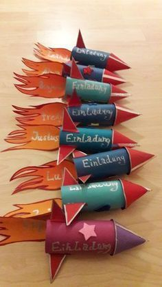 Photo of Tinkered – rocket invitation