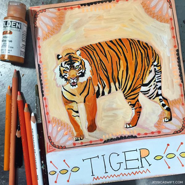 jessicaswift-tiger- step by step