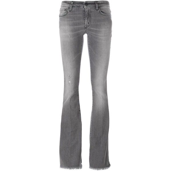 +People frayed hem bootcut jeans (£91) ❤ liked on Polyvore featuring jeans, grey, gray jeans, frayed hem jeans, bootcut jeans, boot-cut jeans and (+) people