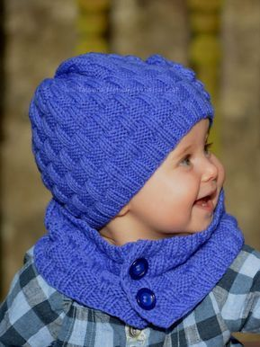 Photo of Knitting Pattern – Grapevine Hat and Scarf (Baby, Child, Adult sizes) in ENG and RUS