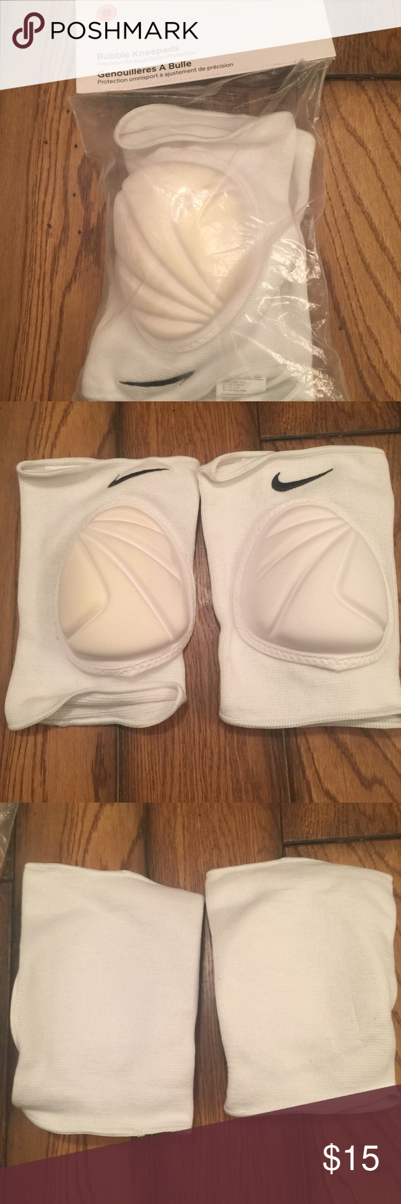 Volleyball Knee Pads Brand New Never Used Great For Indoor Volleyball One Knee Pad Is Slightly Discolored From Volleyball Knee Pads White Sneaker Knee Pads