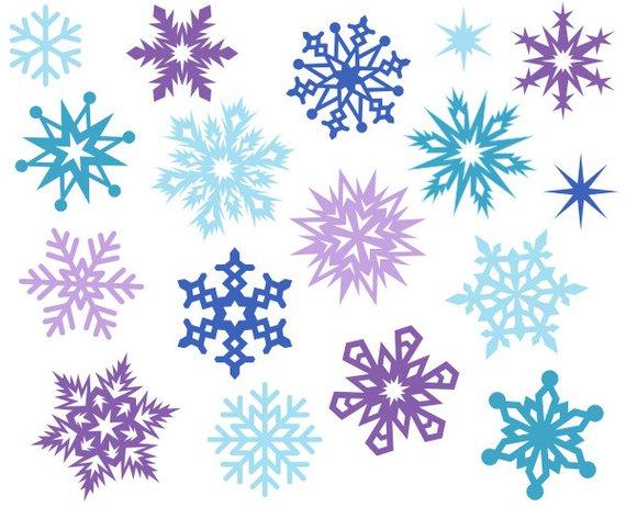 Snowflake cute. Christmas snowflakes digital clipart