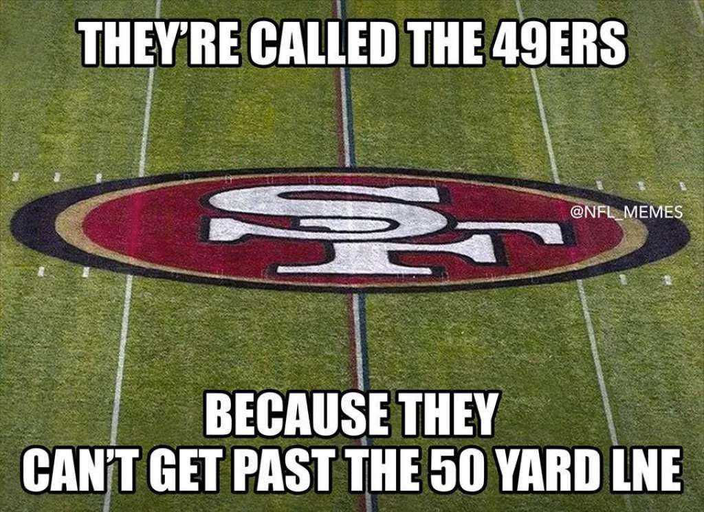 Memes Have Fun With Cowboys Blowout Win Over 49ers Nfl Memes Funny Funny Football Memes Funny Sports Memes