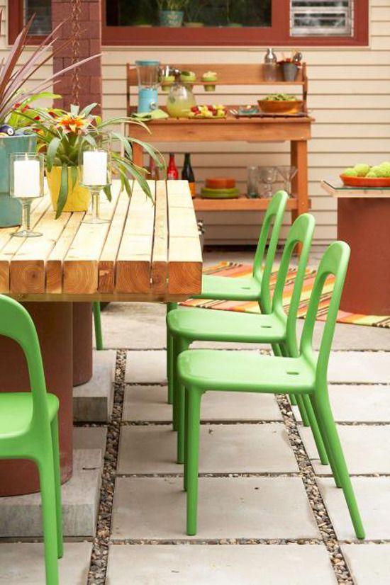 Crisp and cool, #patio #decor