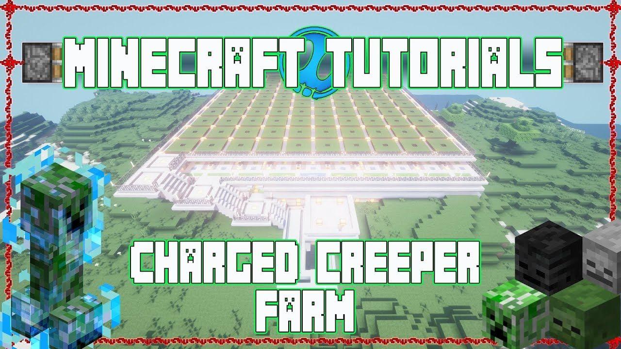 Charged Creeper Farm Minecraft Tutorials Minecraft Tutorial