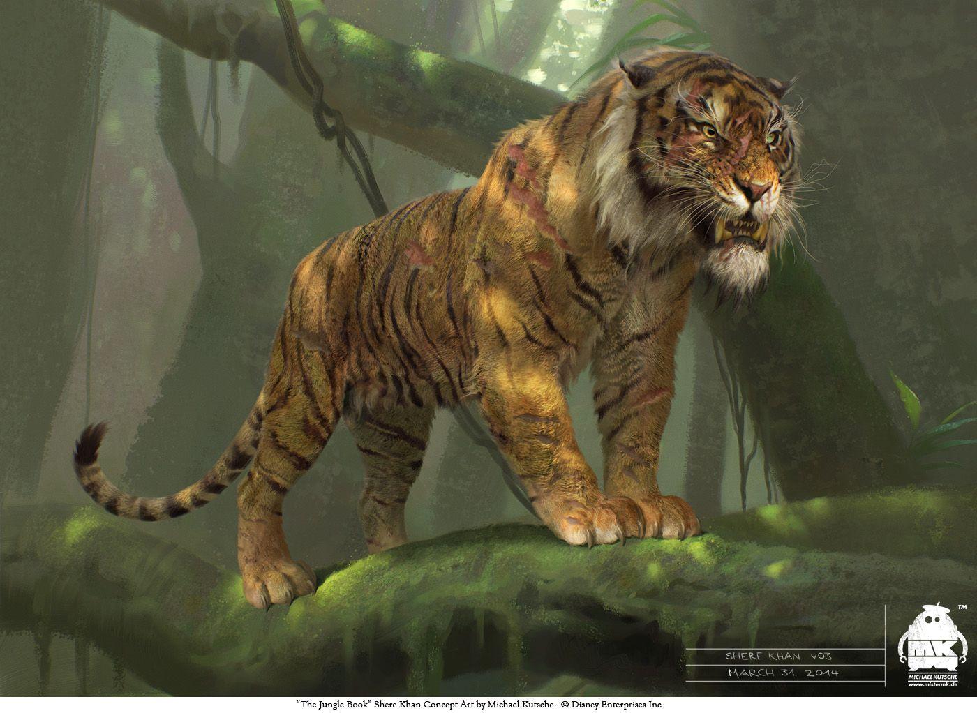 The jungle book shere khan concept by michaelkutsche on deviantart