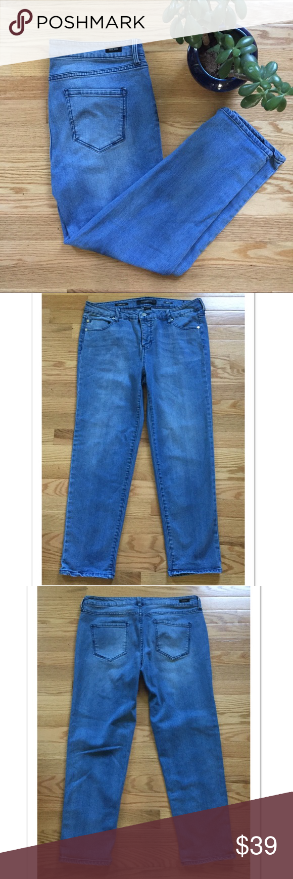 Selling this Liverpool Cami Crop Jeans Size 14 on Poshmark! My username is: davias_closet. #shopmycloset #poshmark #fashion #shopping #style #forsale #Liverpool Jeans Company #Denim