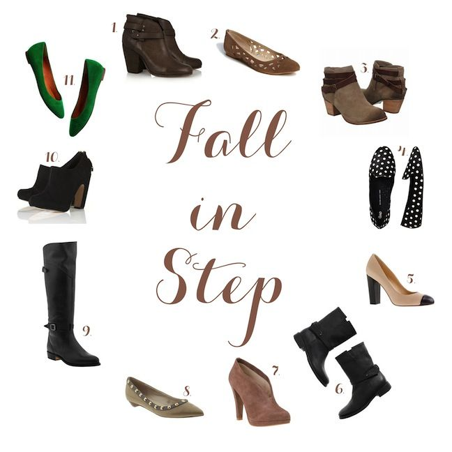 Linen, Lace, & Love: Fall in Step - Fall Shoes!