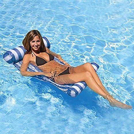 outerdo wasserh ngematte aufblasbare luftmatratze pool lounge f r wasserspa sport freizeit. Black Bedroom Furniture Sets. Home Design Ideas