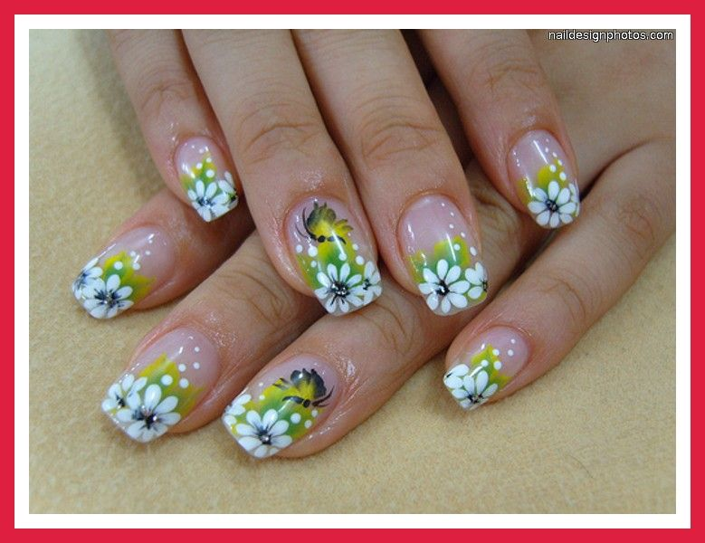 Easy To Do Summer Nail Designs Flower At Home Pictures Photos Video