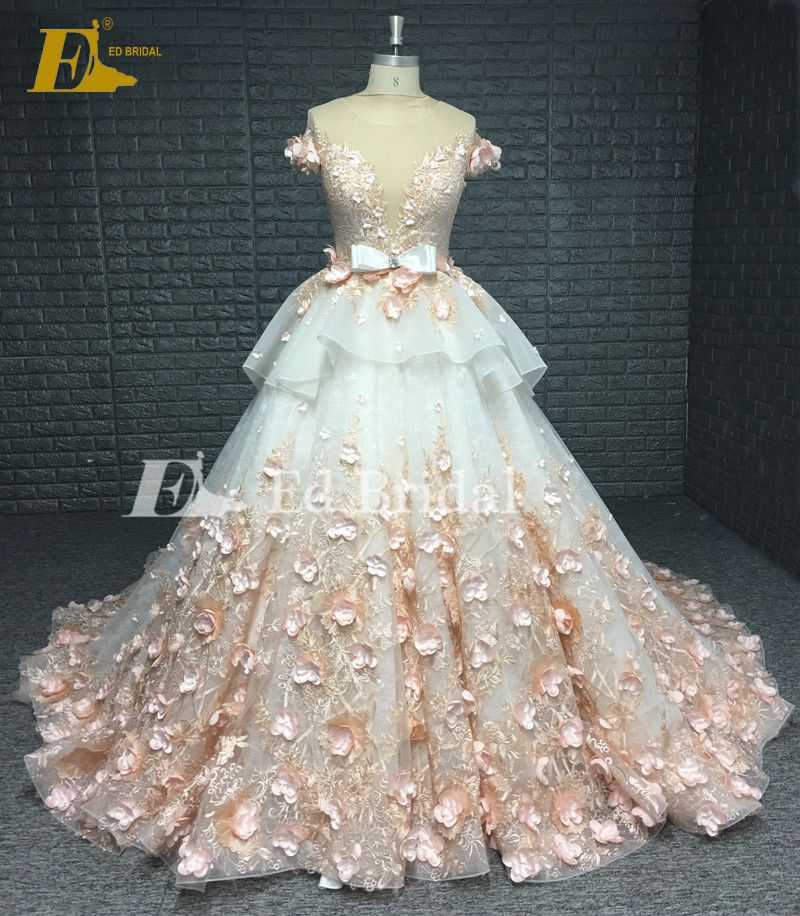 Princess Luxury Flowers Floral Pink Real Sample Wedding
