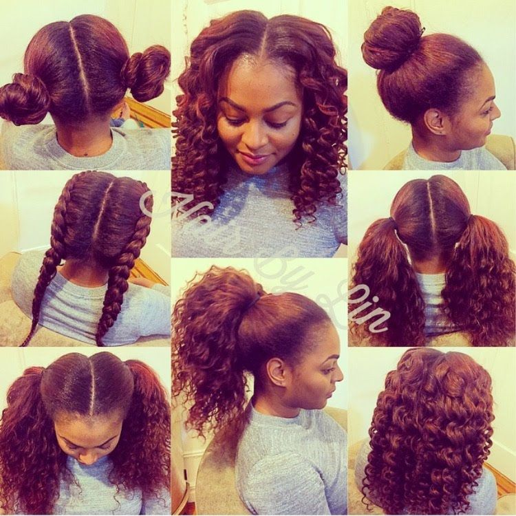 2 Part Vertical Versatile Sew In Nyc Natural Hair Pinterest