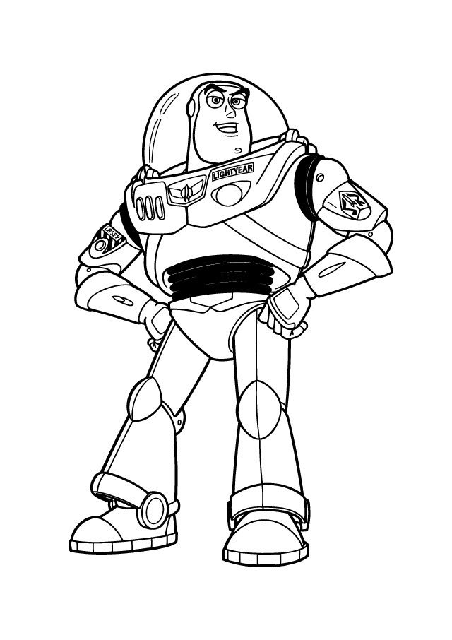 buzz lightyear coloring page # 6