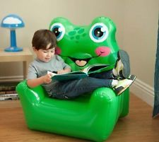 Cool New Inflatable Animal Green Frog Chair Kids Blow Up Sofa Theyellowbook Wood Chair Design Ideas Theyellowbookinfo