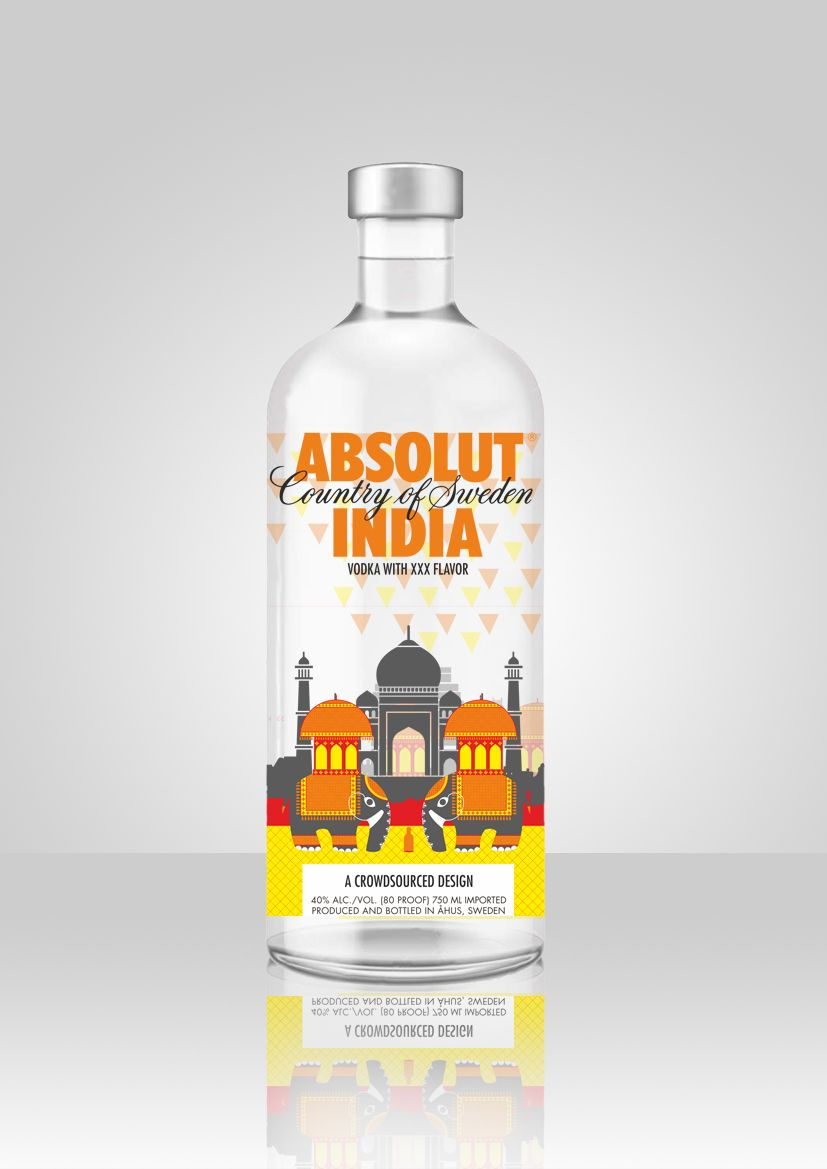 My design entry for the absolut india limited edition bottle ...