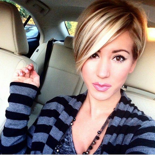 Short Hairstyles With Long Bangs New Instagram Postshorthair 💯 Pixiecut 😎 Fashion