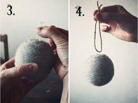 likainen parketti: DIY- joulupallo/christmas ball, school Eco bauble?