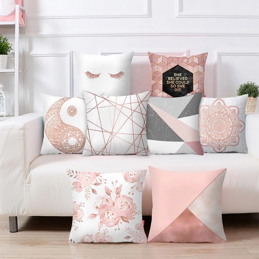 Stripe Geometric Polyester Throw Waist Pillow Case Cushion Cover Home Sofa Decor