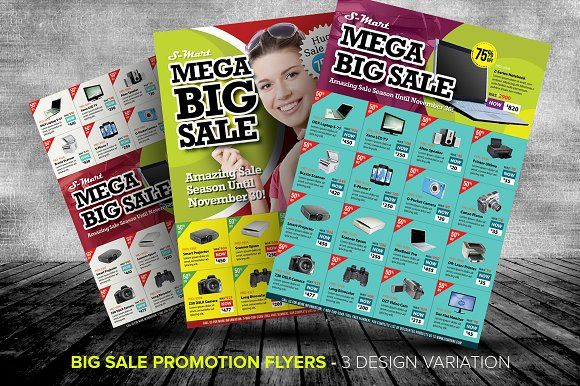 big sale promotion flyer templates by kinzi21 on creativemarket