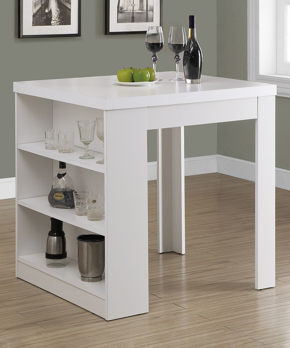 White Three-Shelf Dining Table  Table gain de place, Table de