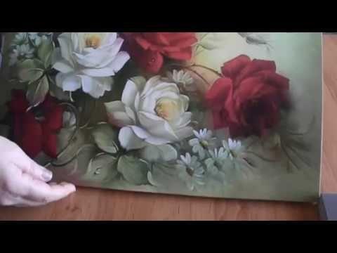 One Strock çiçek Yapımı Youtube çiçek Boyama Decoupage Art Ve