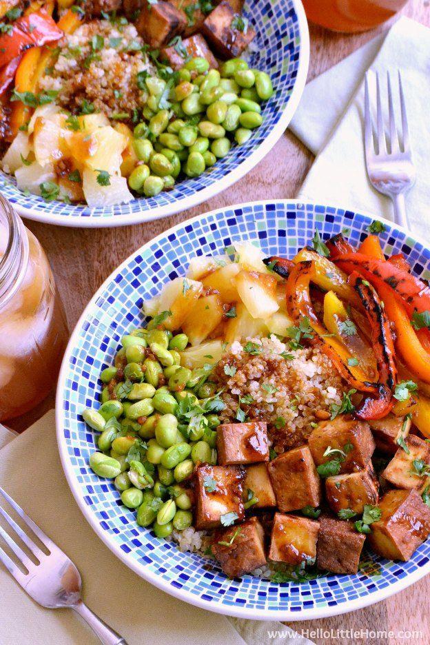 Teriyaki Tofu Bowl Recipe Vegetable dishes, Vegetarian