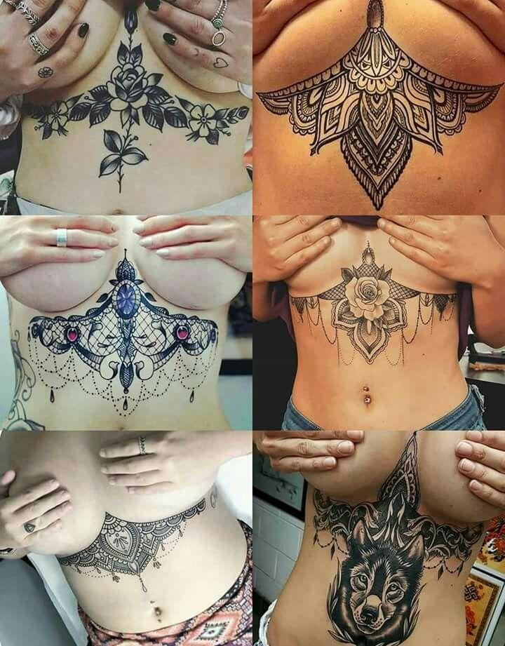 Sexy underboob tattoo