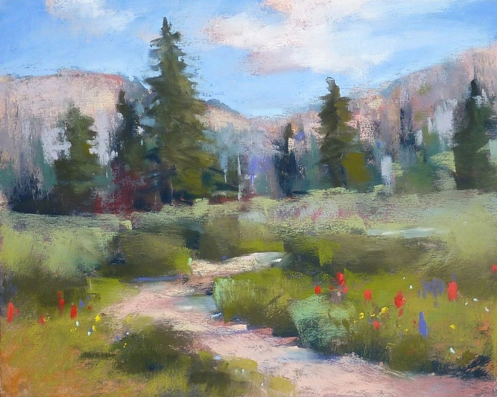 Pastel Landscape Demo Step by Step | evoking a passion for art ...