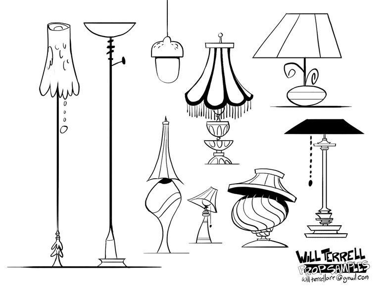 Prop Designs Lamps By Willterrell On Deviantart Prop Design Props Concept Props Illustration