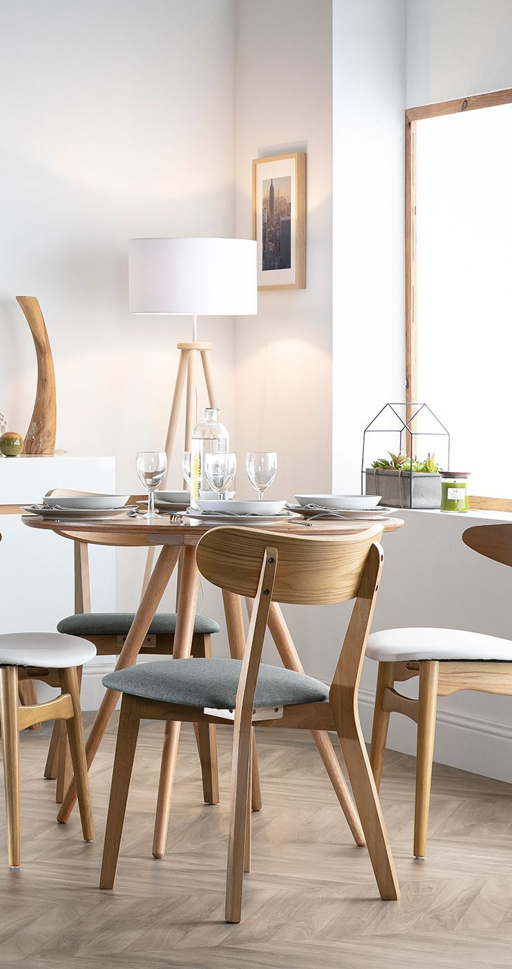 Table A Manger Ronde Bois Clair D90 Cm Artik Miliboo En 2020 Table A Manger Ronde Decoration Maison Meuble Design