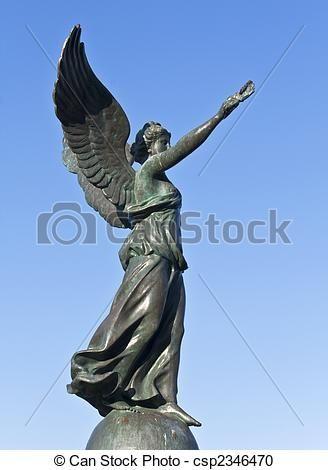 Nike the Goddess of Victory. ストックフォト - 像, 勝利, rhodes, 島