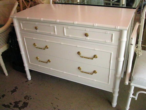 Image result for white bamboo dresser