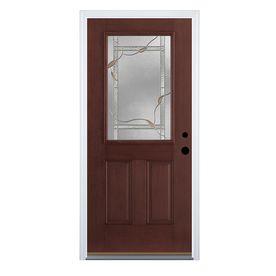 Therma tru benchmark doors ashleigh 2 panel insulating for Therma tru fiber classic mahogany price