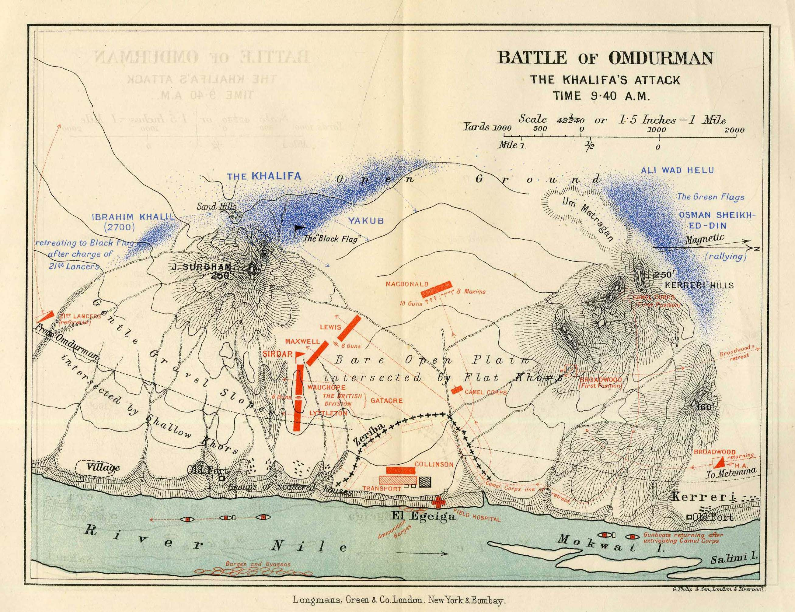 The Battle of Omdurman The Khalifas Attack 2nd September 940 am