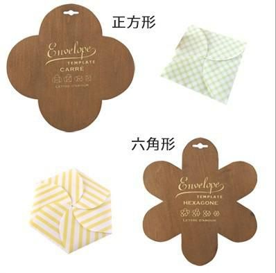 Wholesale Retro Zakka Style Square Wood Envelope Template Envelop