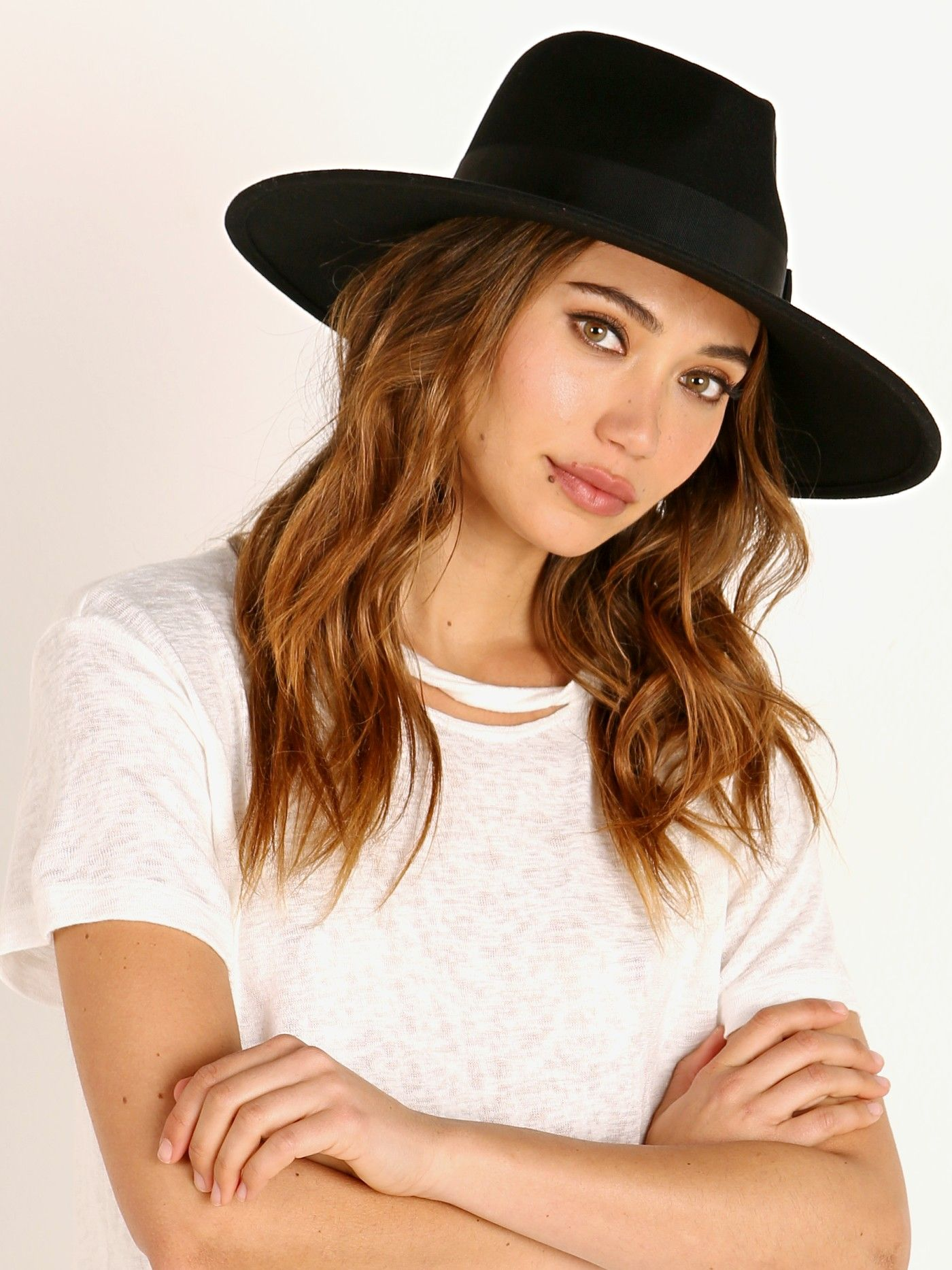 M Brixton Joanna Felt Hat Womens Black