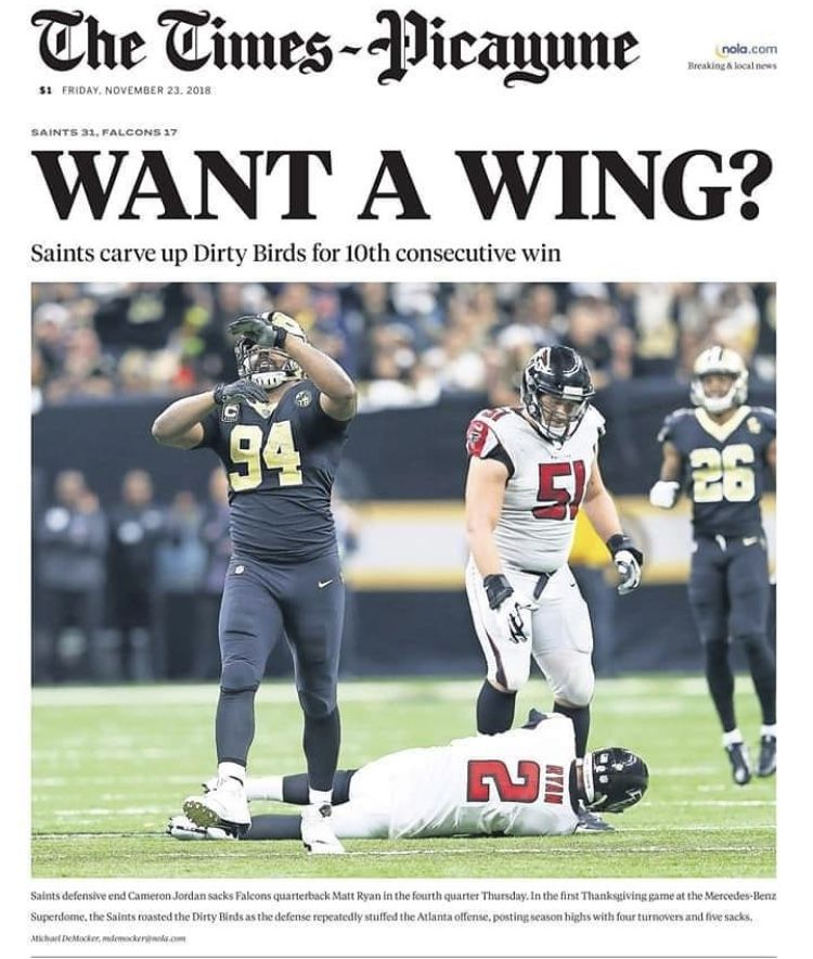 A Falcon Wing Nfl Funny Sports Memes Saints Football