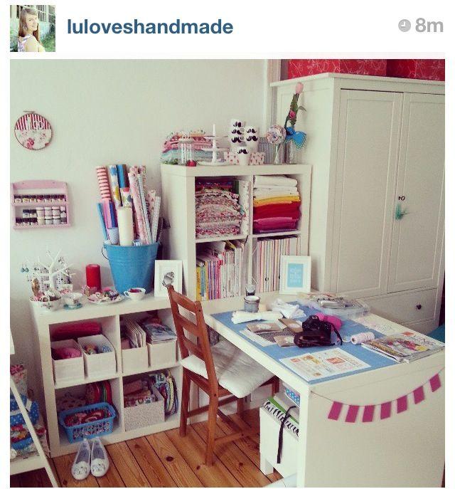 so soll mein n hzimmer aussehen gesehen bei luloveshandmade bei instagram b ro hobbyraum. Black Bedroom Furniture Sets. Home Design Ideas