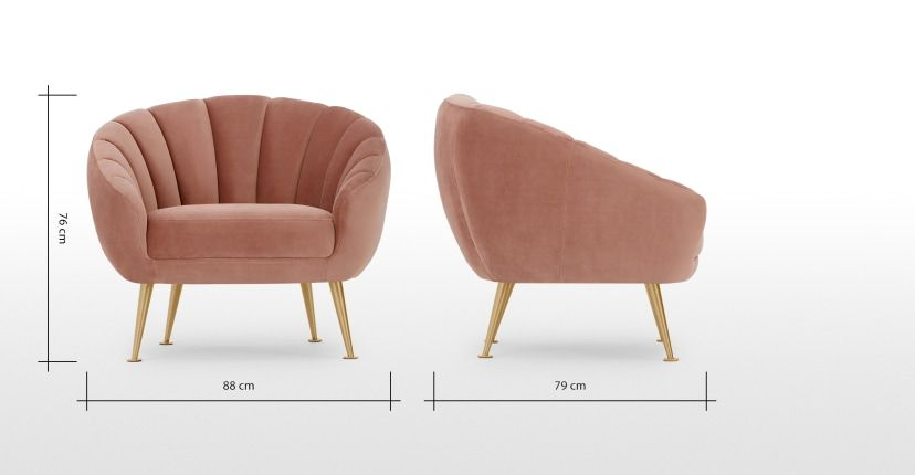 Best Primrose Accent Armchair Blush Pink Velvet In 2020 Pink 400 x 300