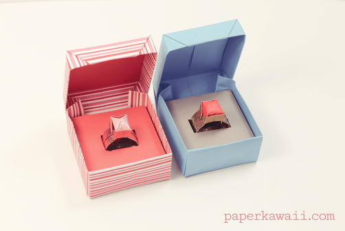 Origami Ring Box For Valentines Day Origami Ring Diy Origami And