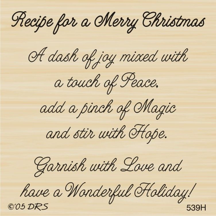 1 Line Christmas Blessings Rubber Stamp By DRS Designs