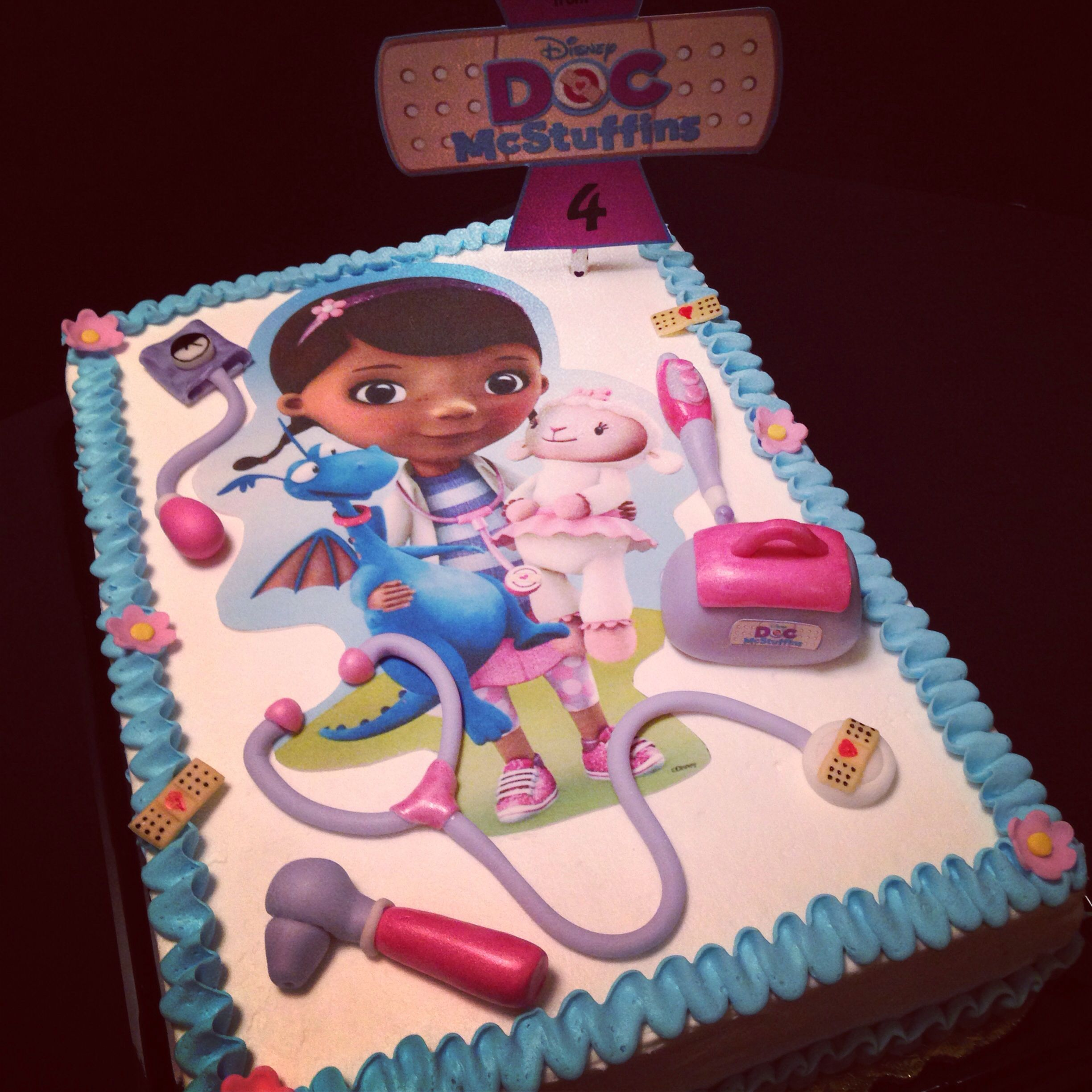Outstanding Girl S Bday Cake Idea Dr Mcstuffins With Images Doc Mcstuffins Funny Birthday Cards Online Elaedamsfinfo