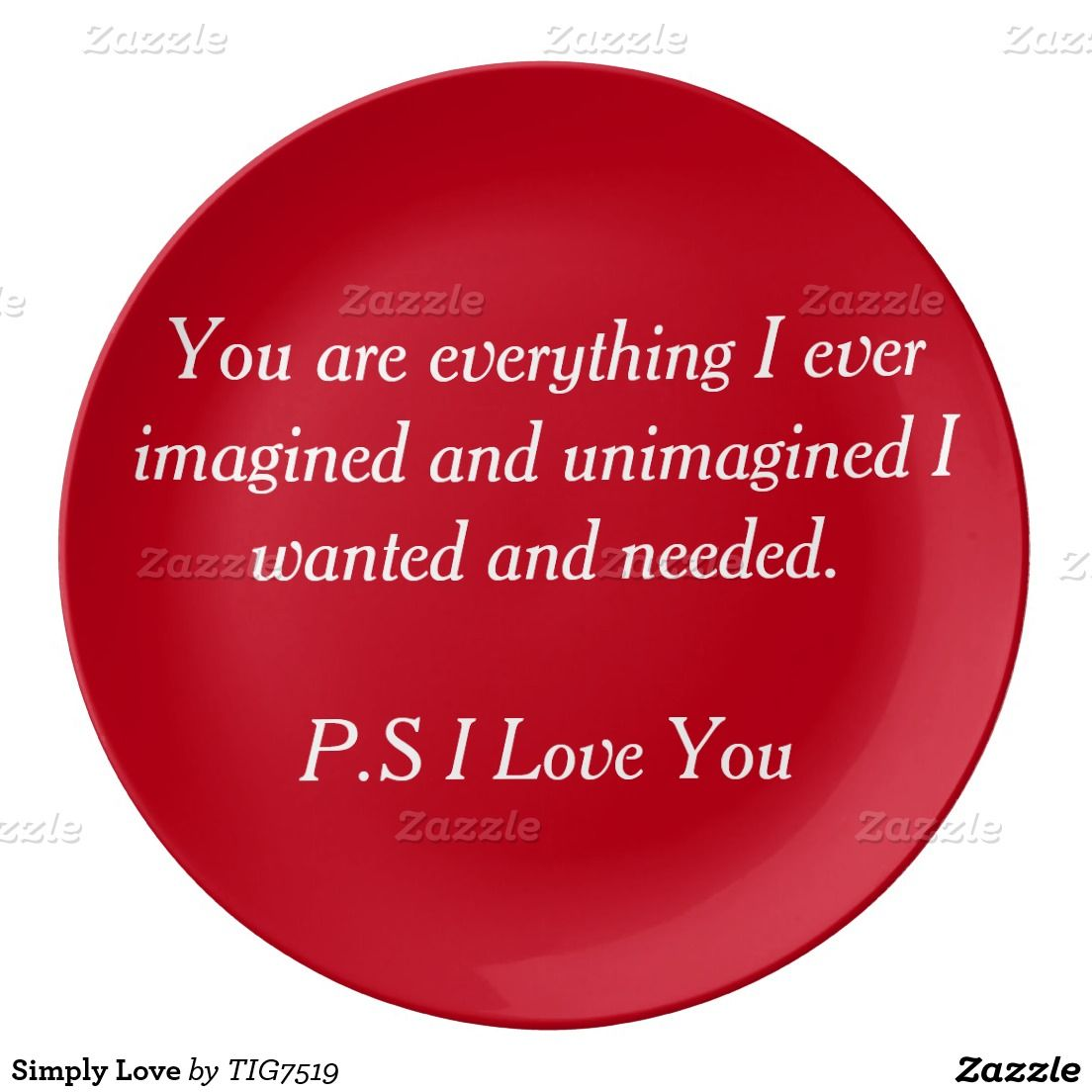 Simply Love Porcelain Plate