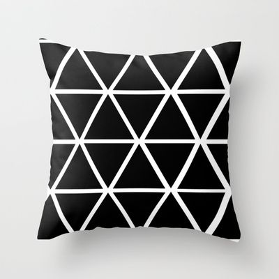 Black Amp White Triangles 2 Throw Pillow By Natalie Sales