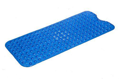 Simple Deluxe Extra Long Slip Resistant Bath Mat 16 X 39 Blue